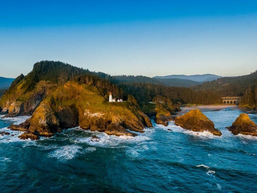 Whale Tail, Heceta Lighthouse B&B